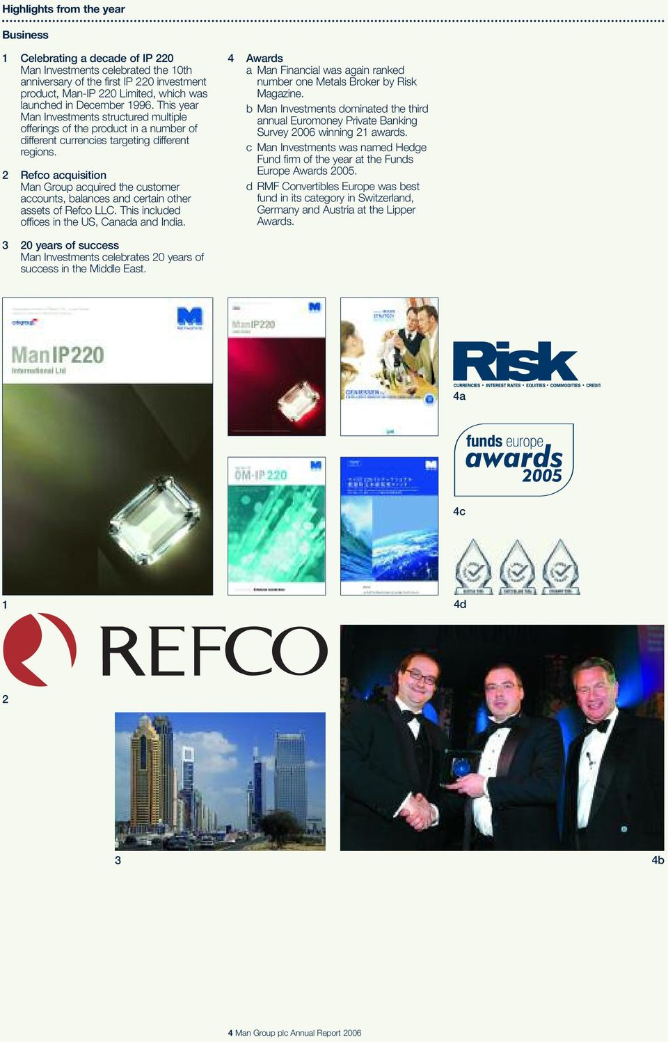 2 Refco acquisition Man Group acquired the customer accounts, balances and certain other assets of Refco LLC. This included offices in the US, Canada and India.