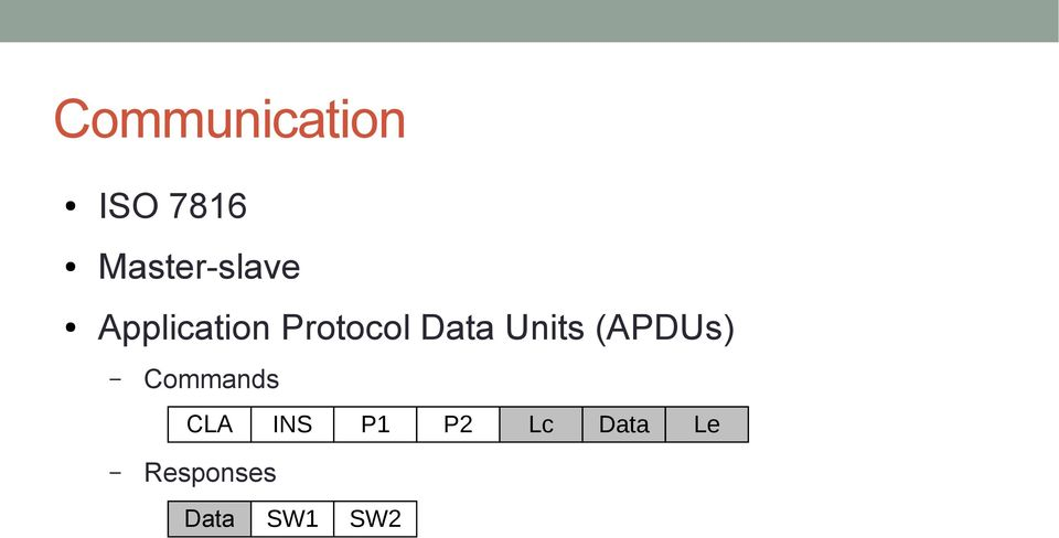 Protocol Data Units (APDUs)