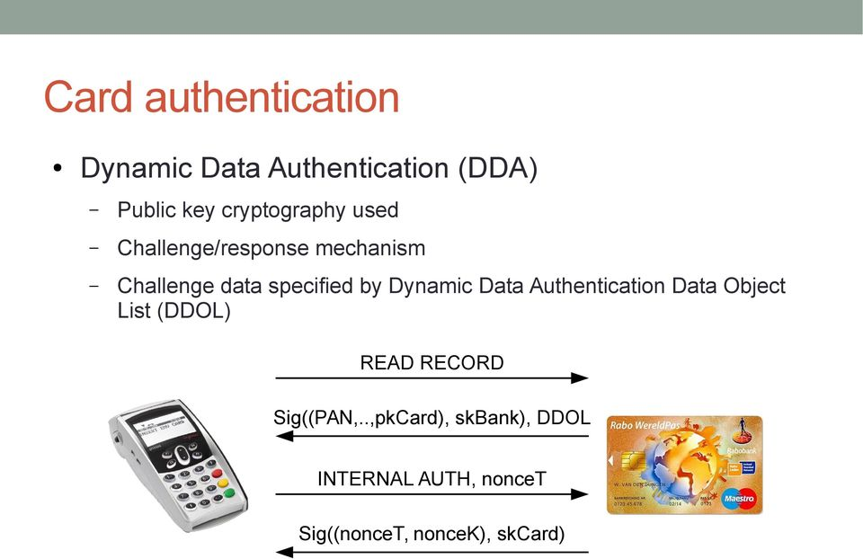 by Dynamic Data Authentication Data Object List (DDOL) READ RECORD