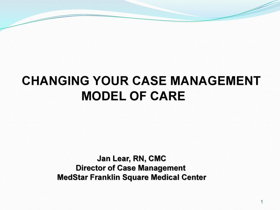 Director of Case Management