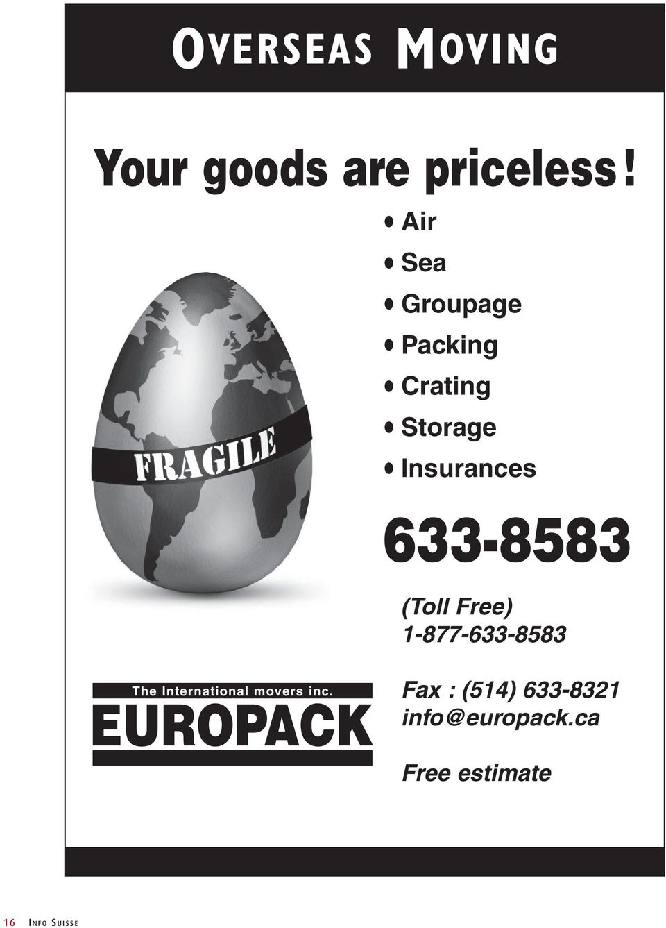 633-8583 (Toll Free) 1-877-633-8583 The International