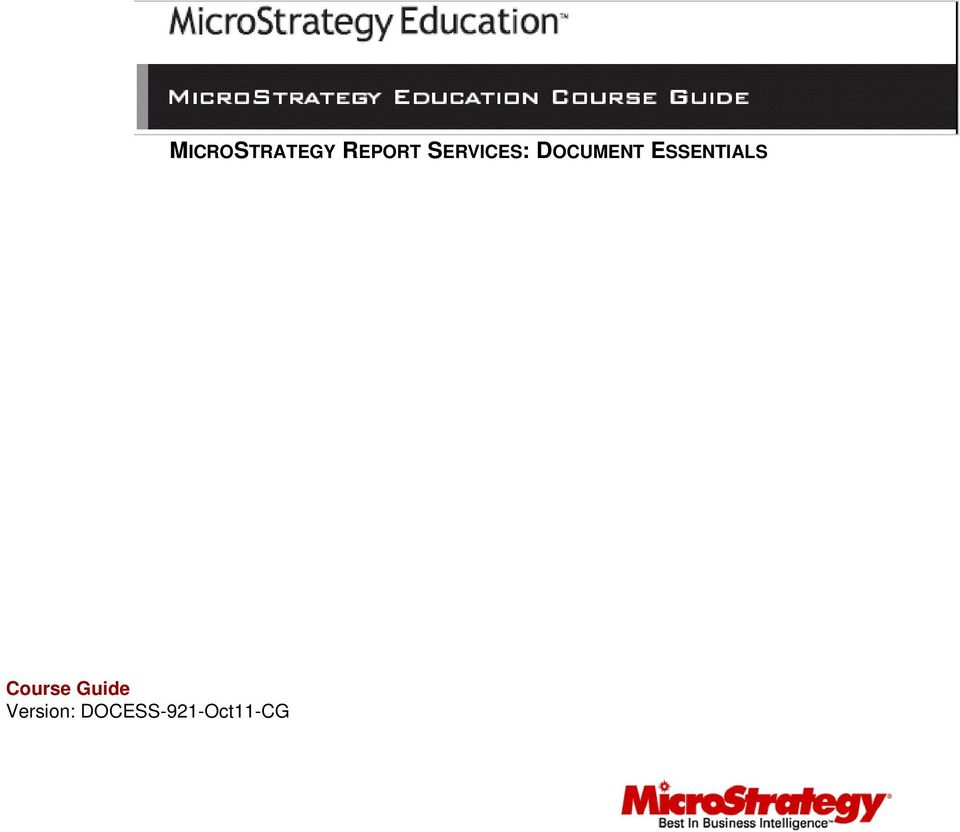 MICROSTRATEGY REPORT
