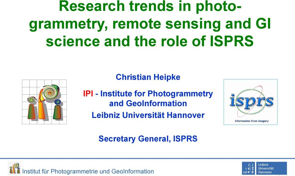 Heipke IPI - Institute for Photogrammetry and