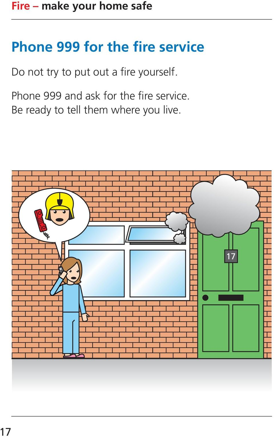 Phone 999 and ask for the fire