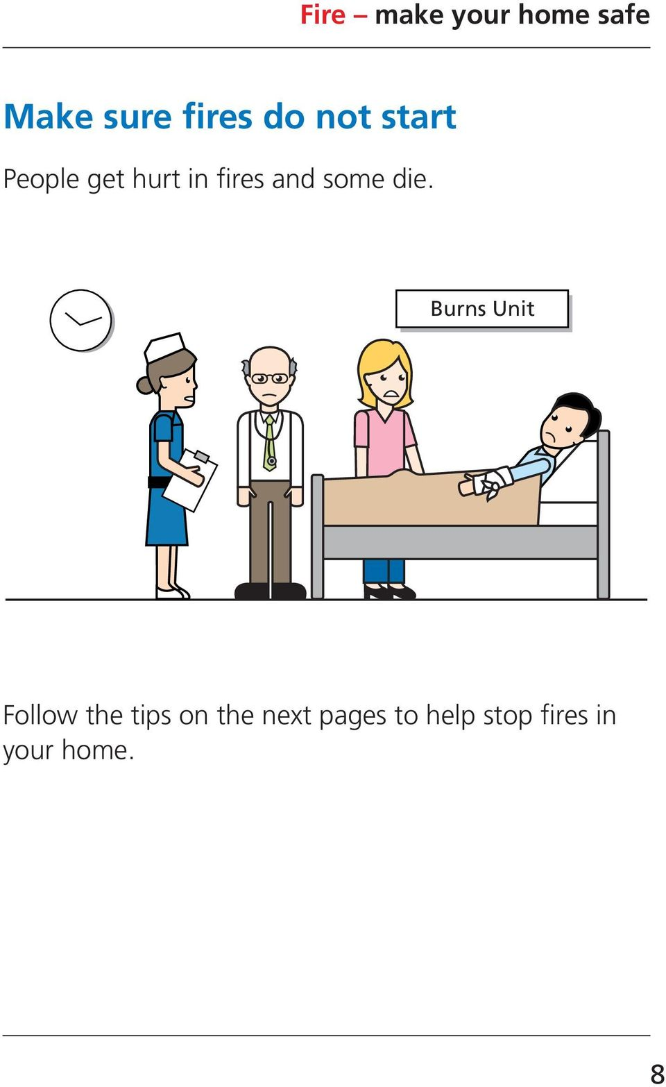 Burns Unit Follow the tips on the