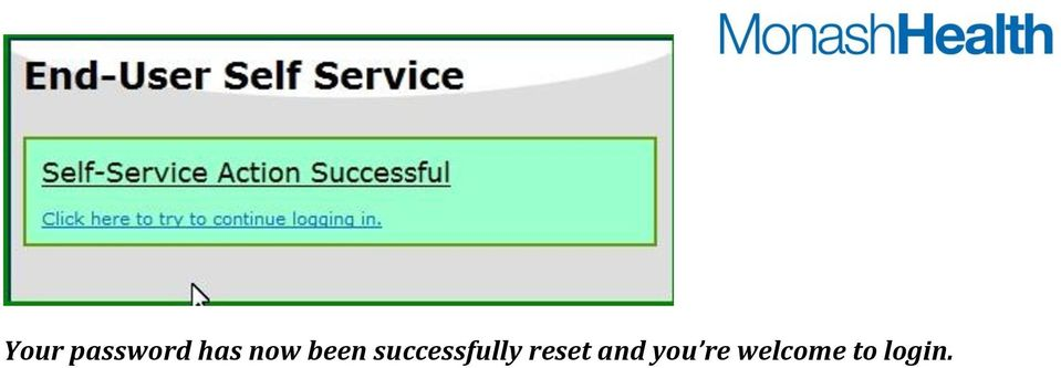 successfully reset