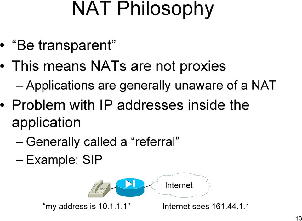 with IP addresses inside the application Generally called a