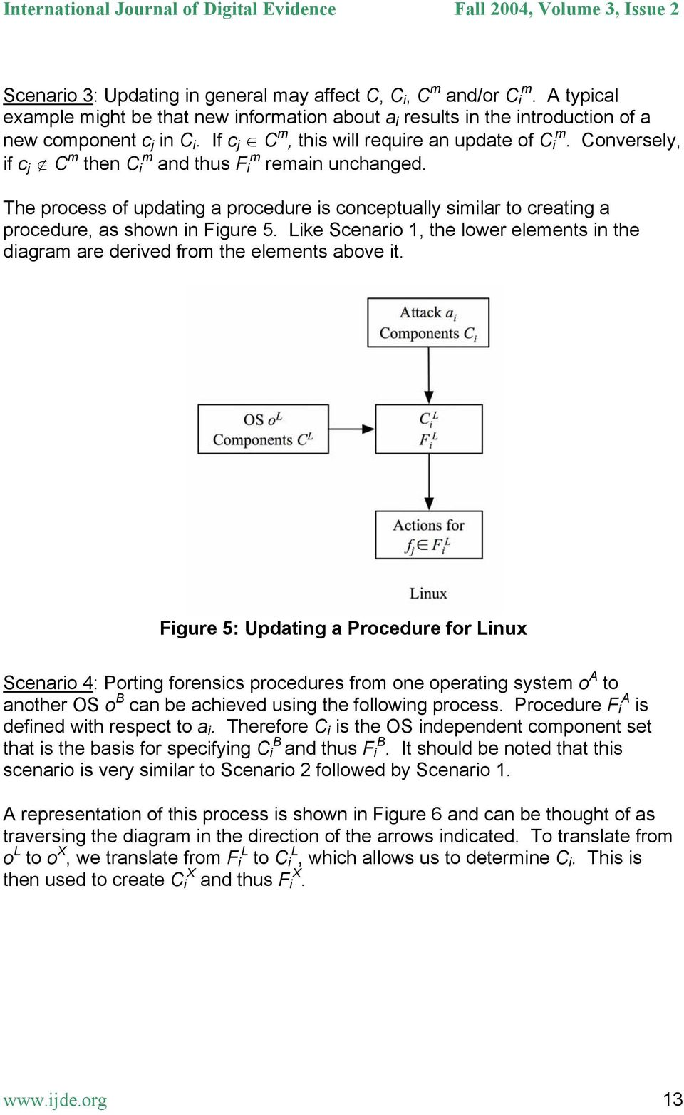 The process of updating a procedure is conceptually similar to creating a procedure, as shown in Figure 5. Like Scenario 1, the lower elements in the diagram are derived from the elements above it.