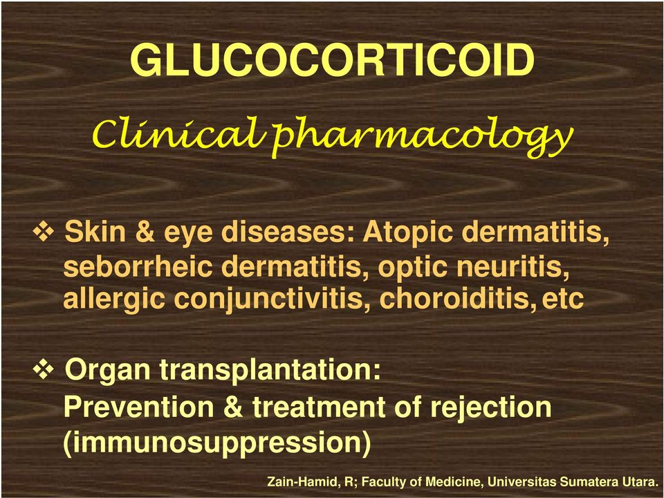 allergic conjunctivitis, choroiditis, etc Organ