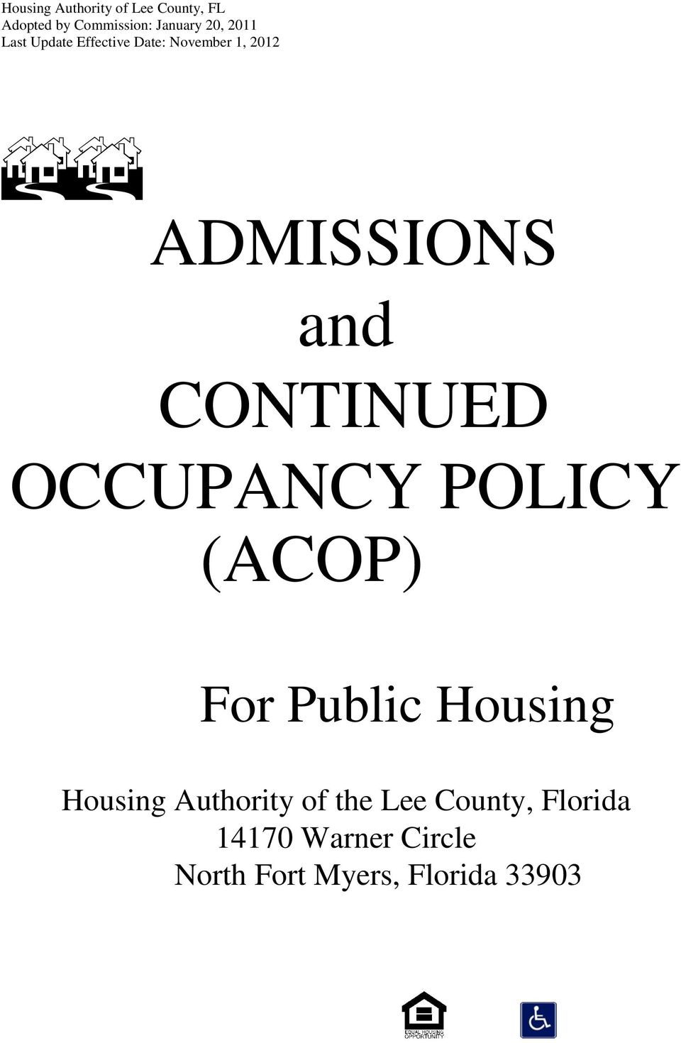 Authority of the Lee County, Florida