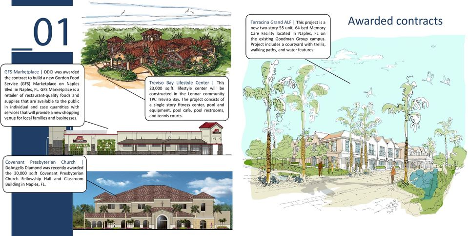 Awarded contracts GFS Marketplace DDCI was awarded the contract to build a new Gordon Food Service (GFS) Marketplace on Naples Blvd. in Naples, FL.