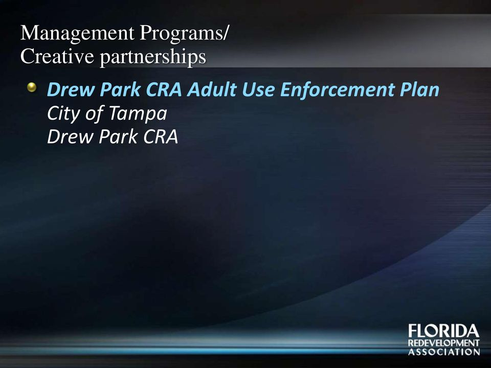 Park CRA Adult Use
