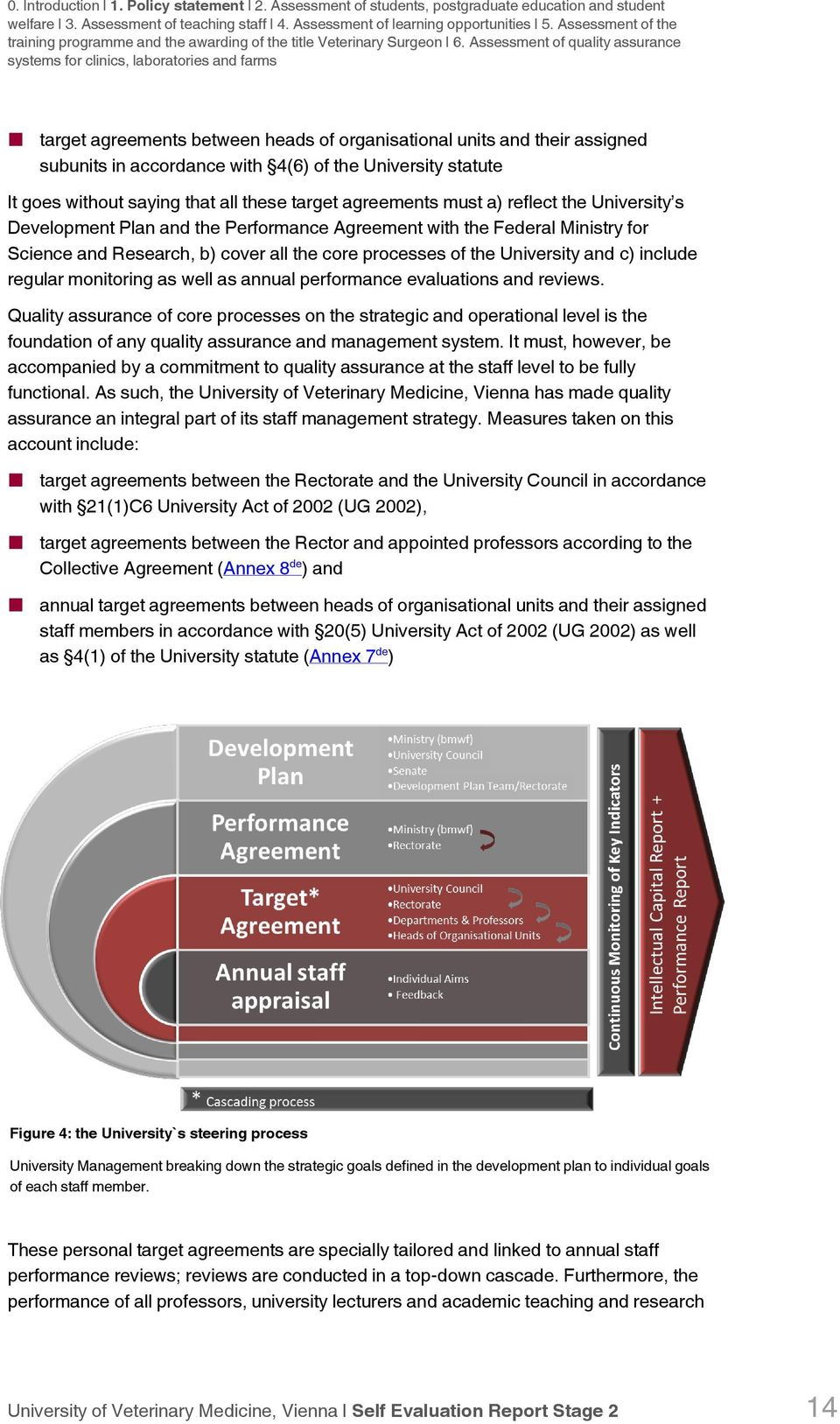 Assessment of quality assurance systems for clinics, laboratories and farms target agreements between heads of organisational units and their assigned subunits in accordance with 4(6) of the