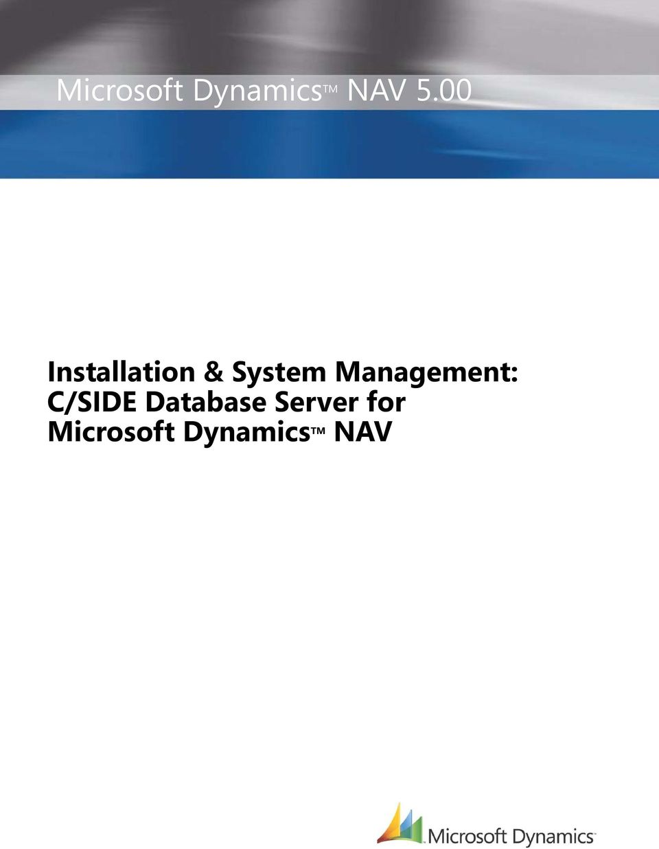 Management: C/SIDE Database