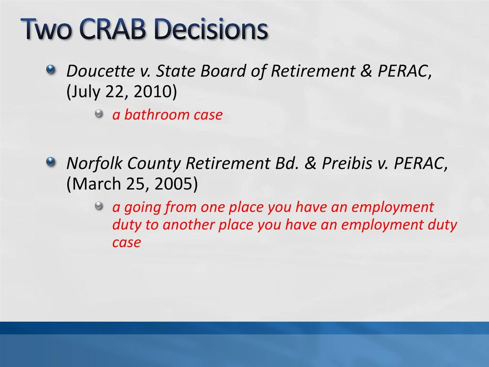 case Norfolk County Retirement Bd. & Preibis v.