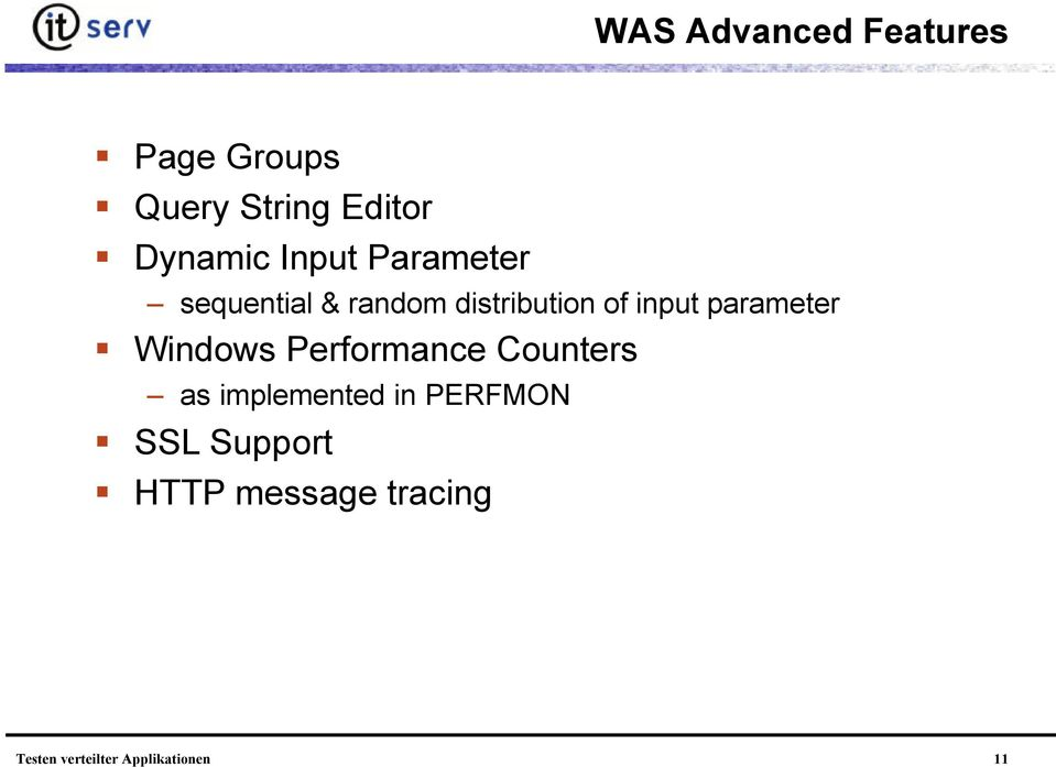distribution of input parameter Windows Performance