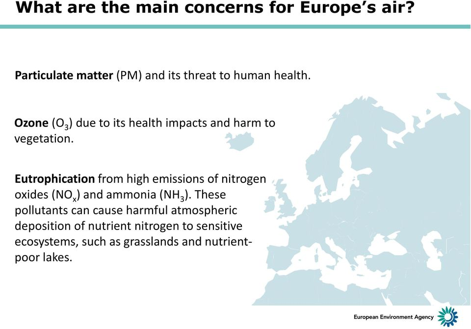 Ozone (O 3 ) due to its health impacts and harm to vegetation.