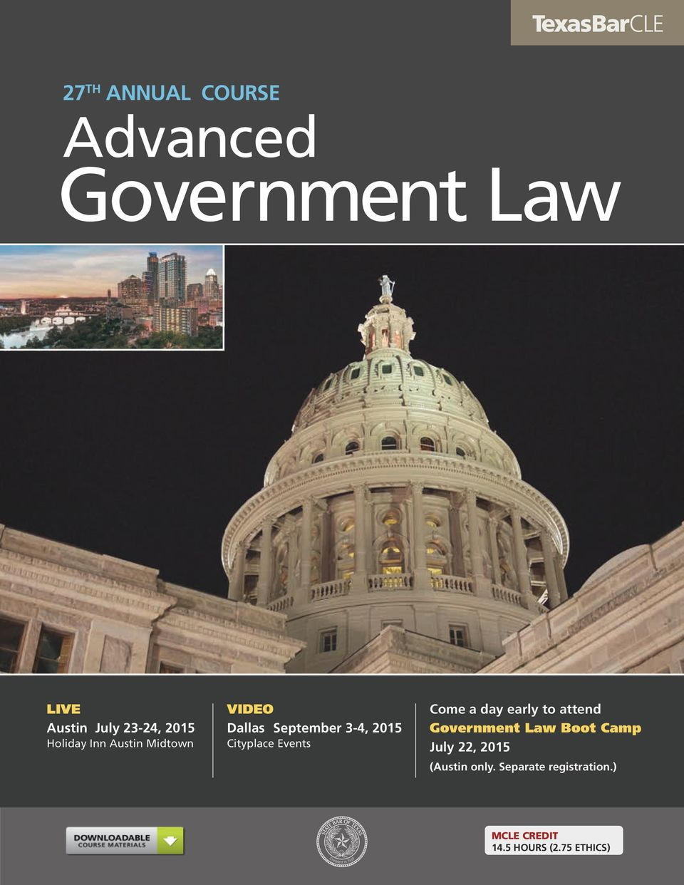 Come a day early to attend Government Law Boot Camp July 22, 2015