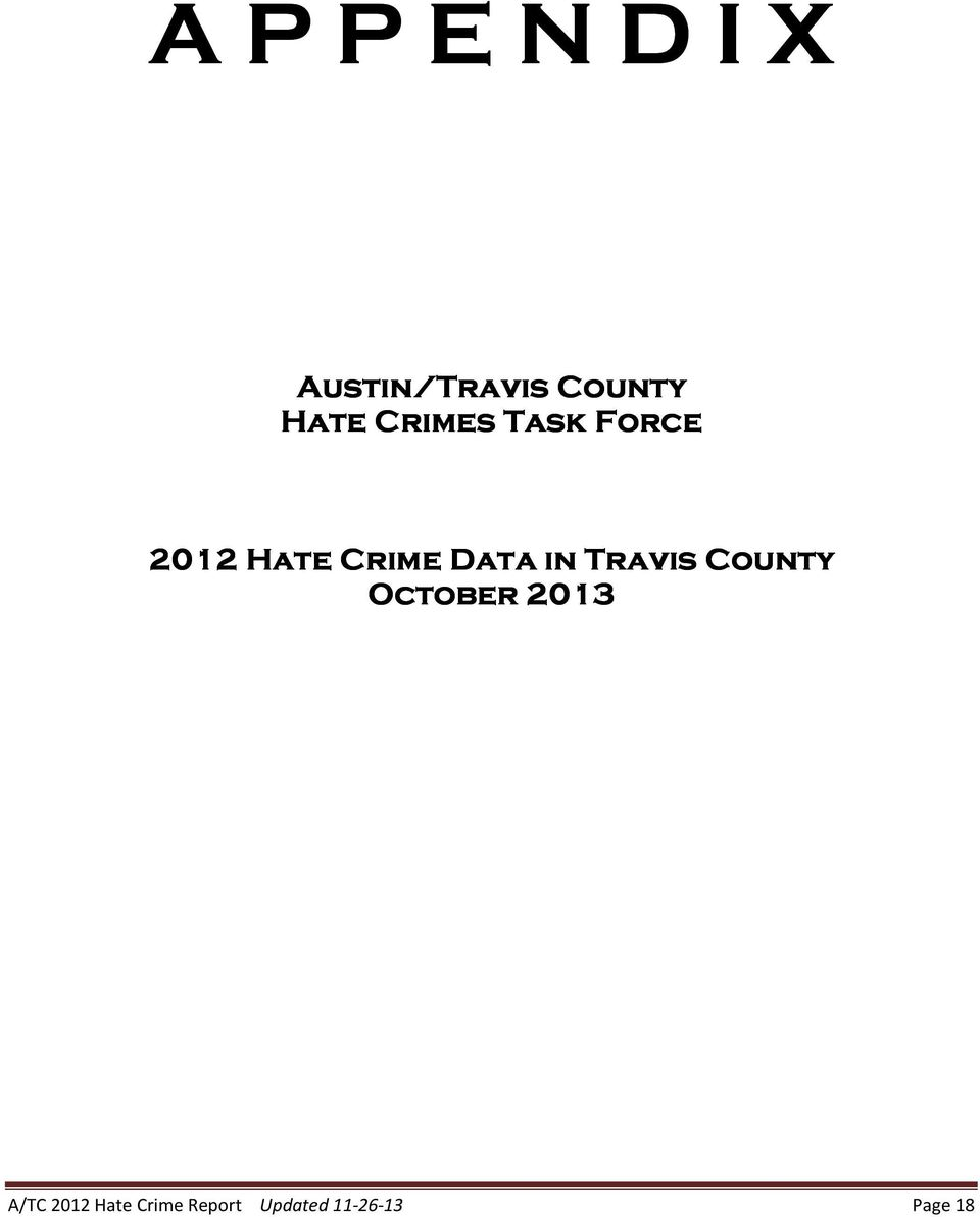 Data in Travis County October 2013 A/TC