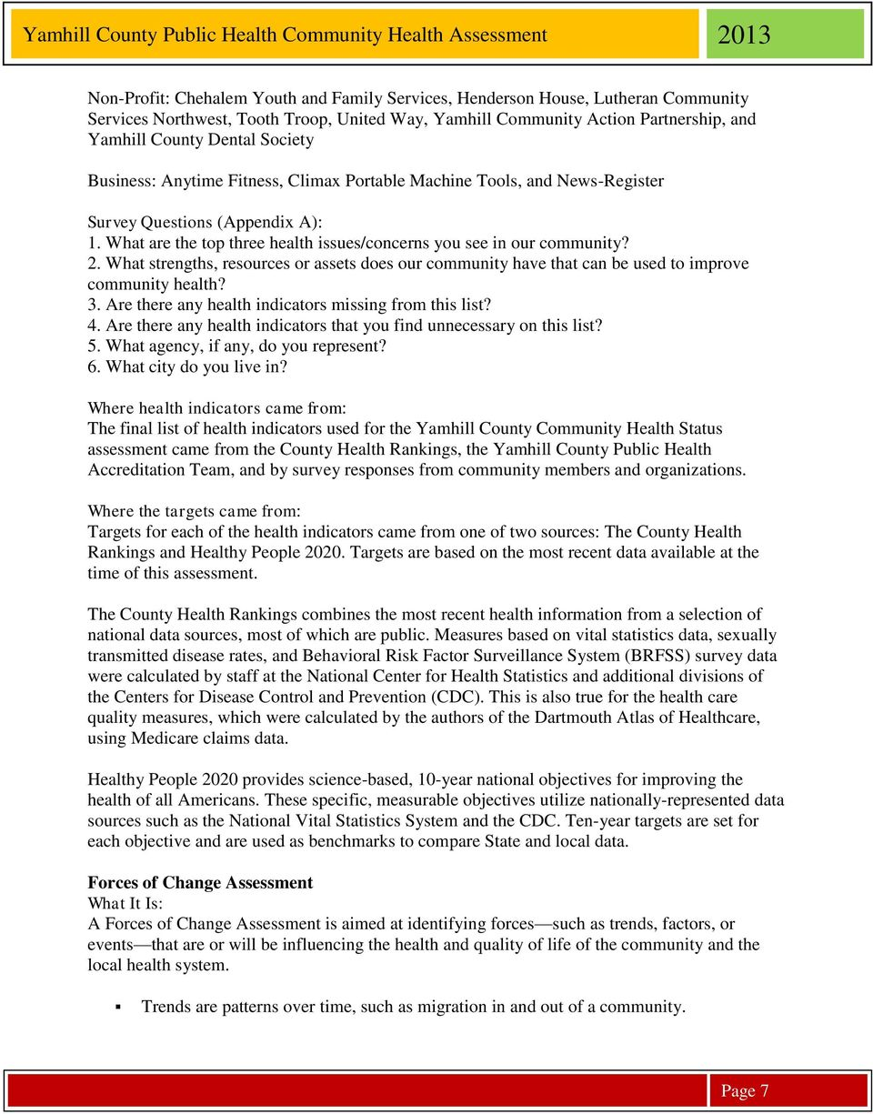 Community Health Assessment Yamhill County Oregon Pdf