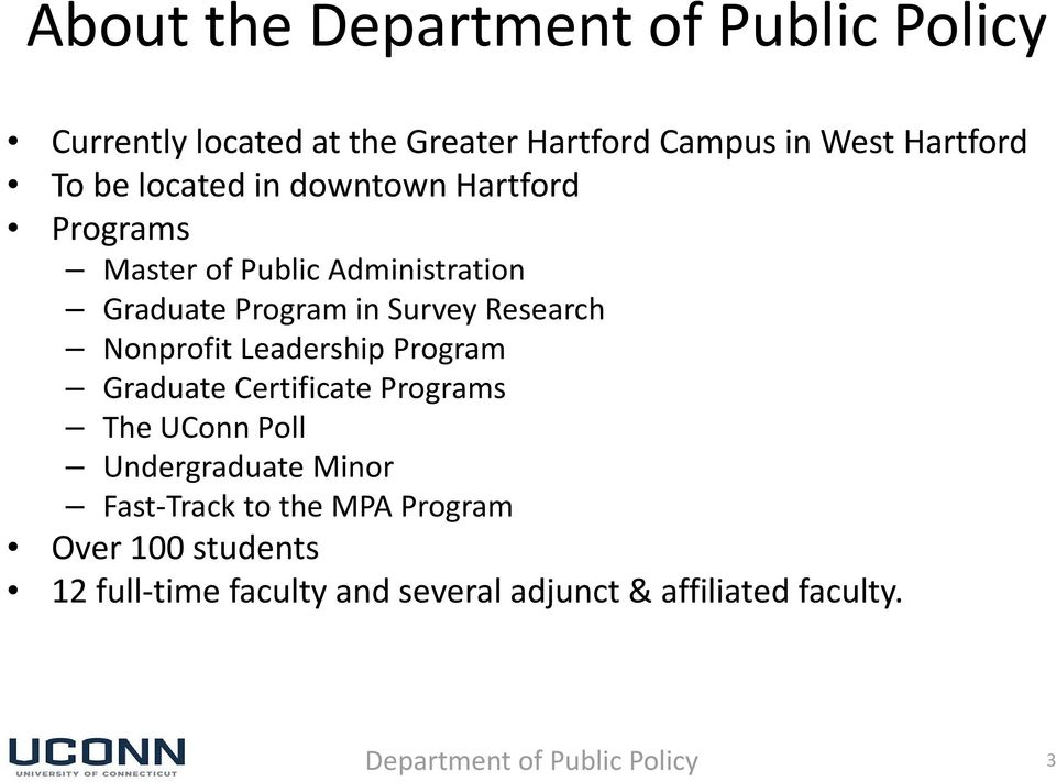 Nonprofit Leadership Program Graduate Certificate Programs The UConn Poll Undergraduate Minor Fast