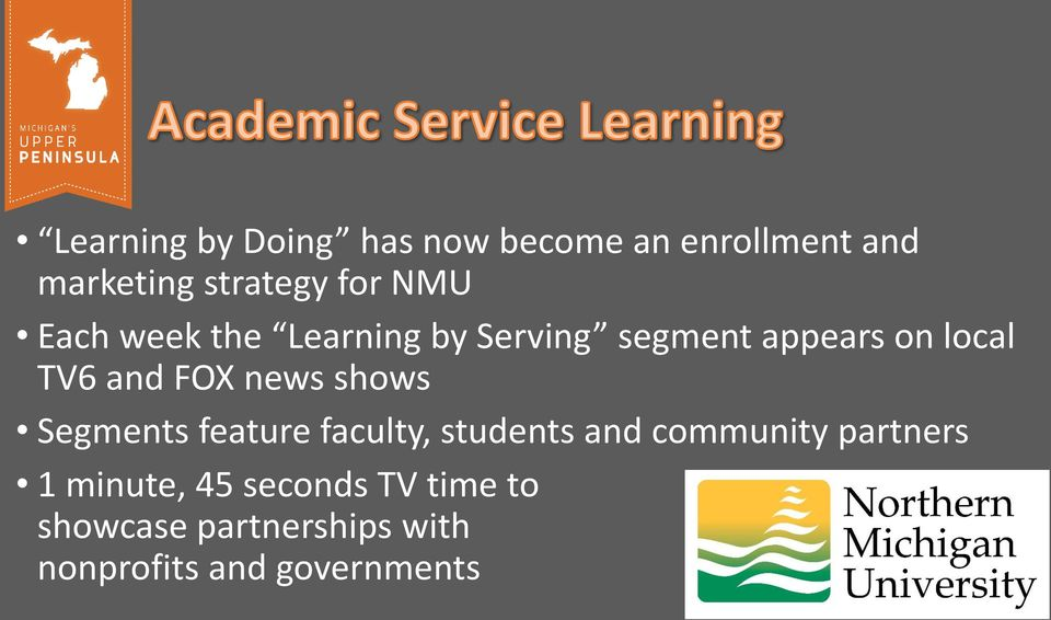 news shows Segments feature faculty, students and community partners 1