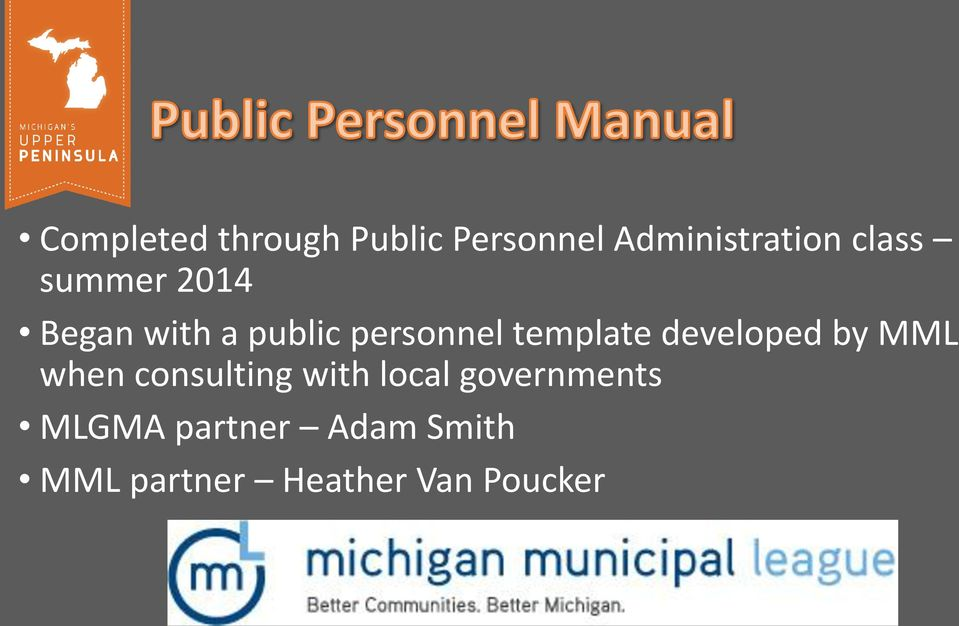 template developed by MML when consulting with local