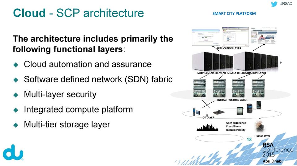 security Integrated compute platform Multi-tier storage layer APPLICATION LAYER SERVICES ENABLEMENT &
