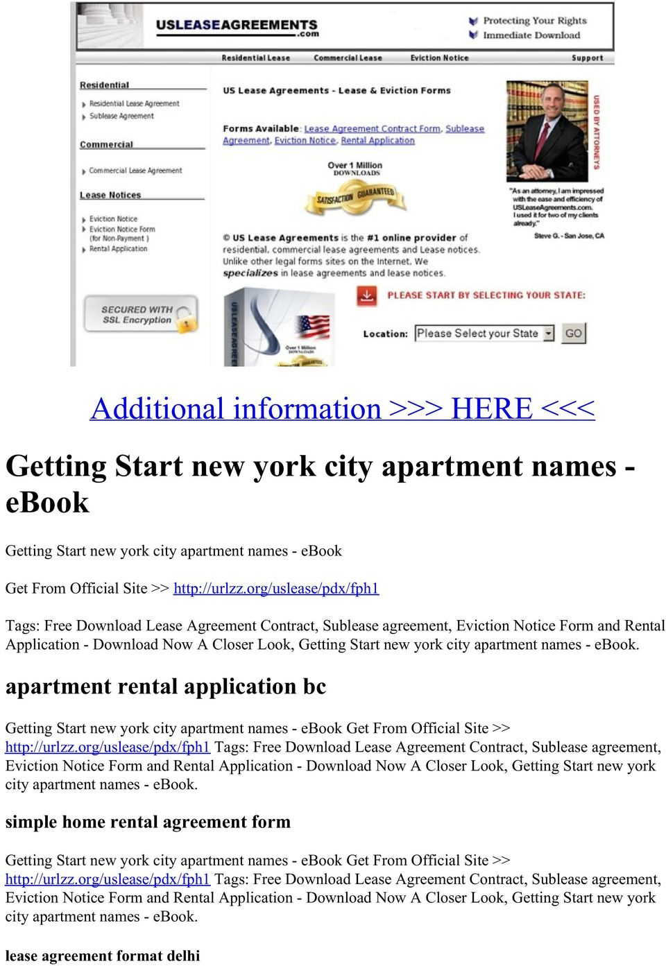 names - ebook. apartment rental application bc Getting Start new york city apartment names - ebook