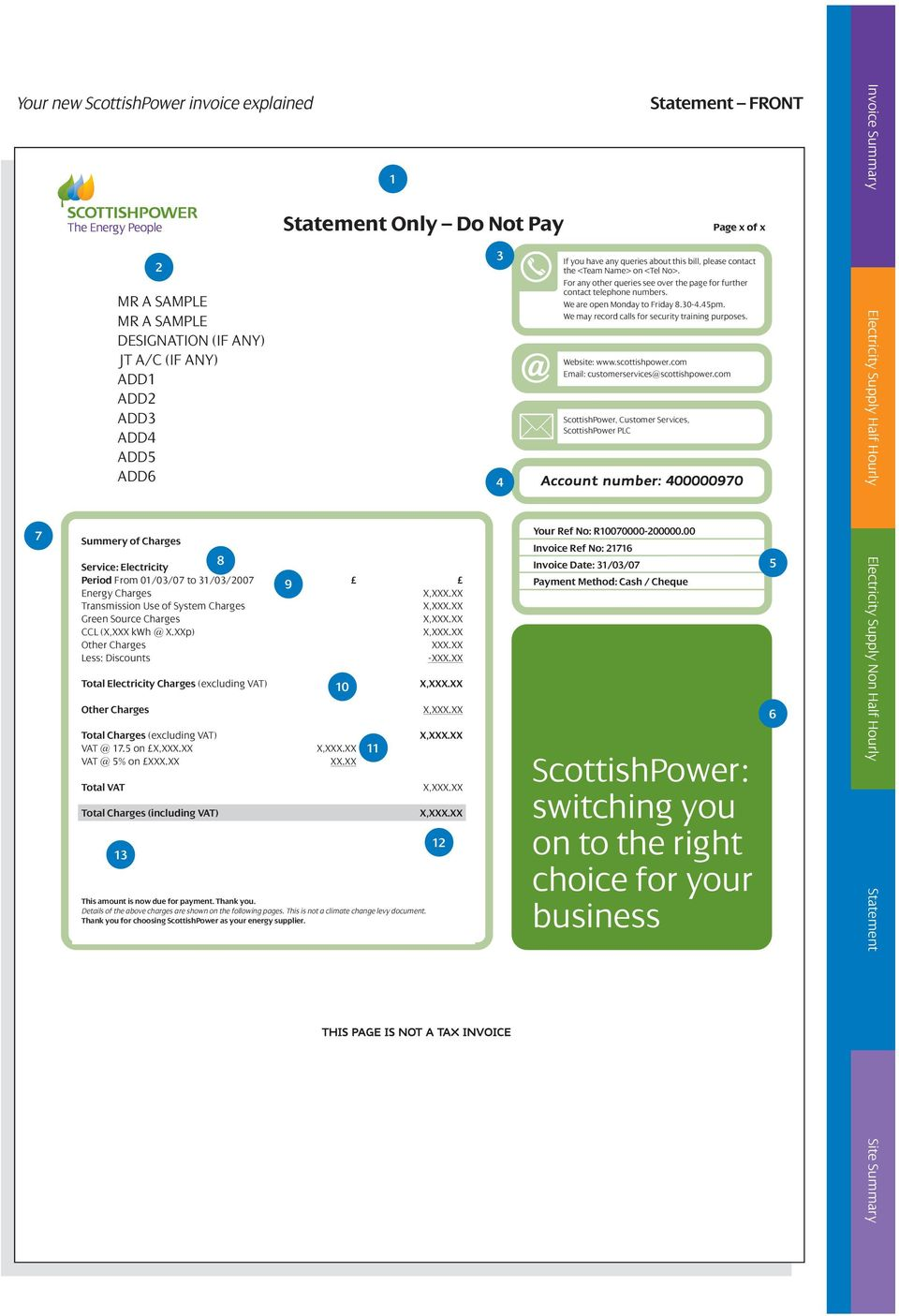 We may record calls for security training purposes. Website: www.scottishpower.com Email: customerservices@scottishpower.