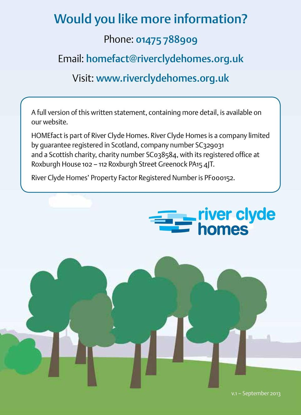 HOMEfact is part of River Clyde Homes.