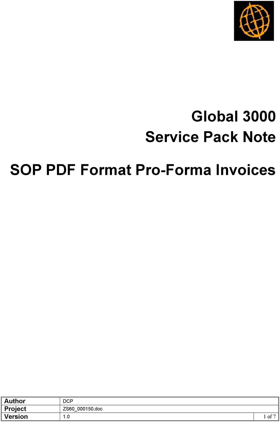 Format Pro Forma