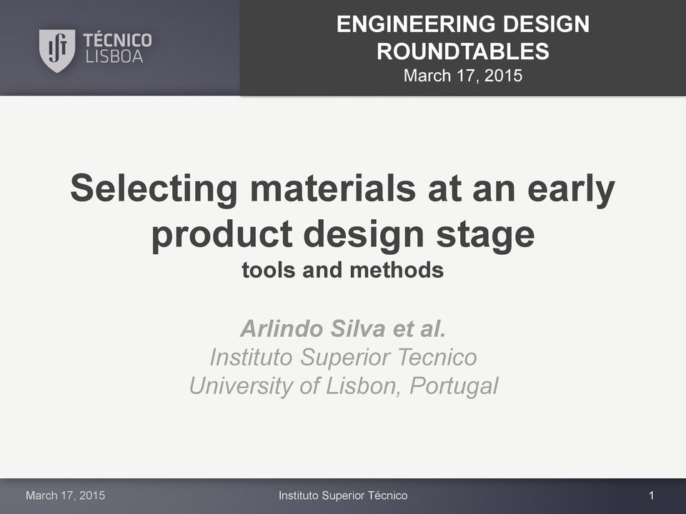 design stage tools and methods Arlindo Silva et al.