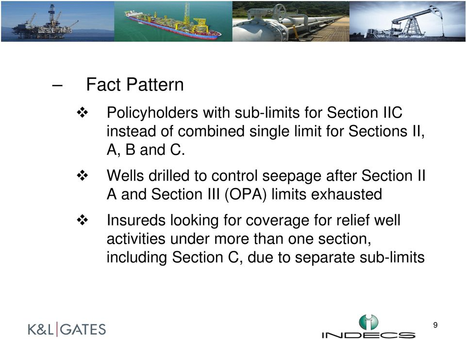 Wells drilled to control seepage after Section II A and Section III (OPA) limits