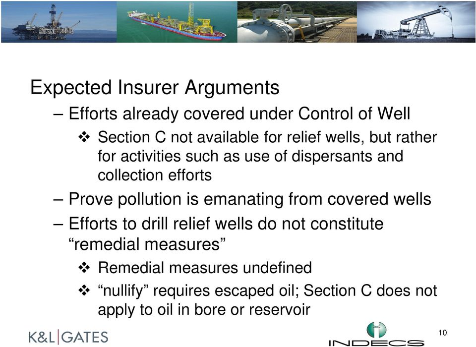 pollution is emanating from covered wells Efforts to drill relief wells do not constitute remedial