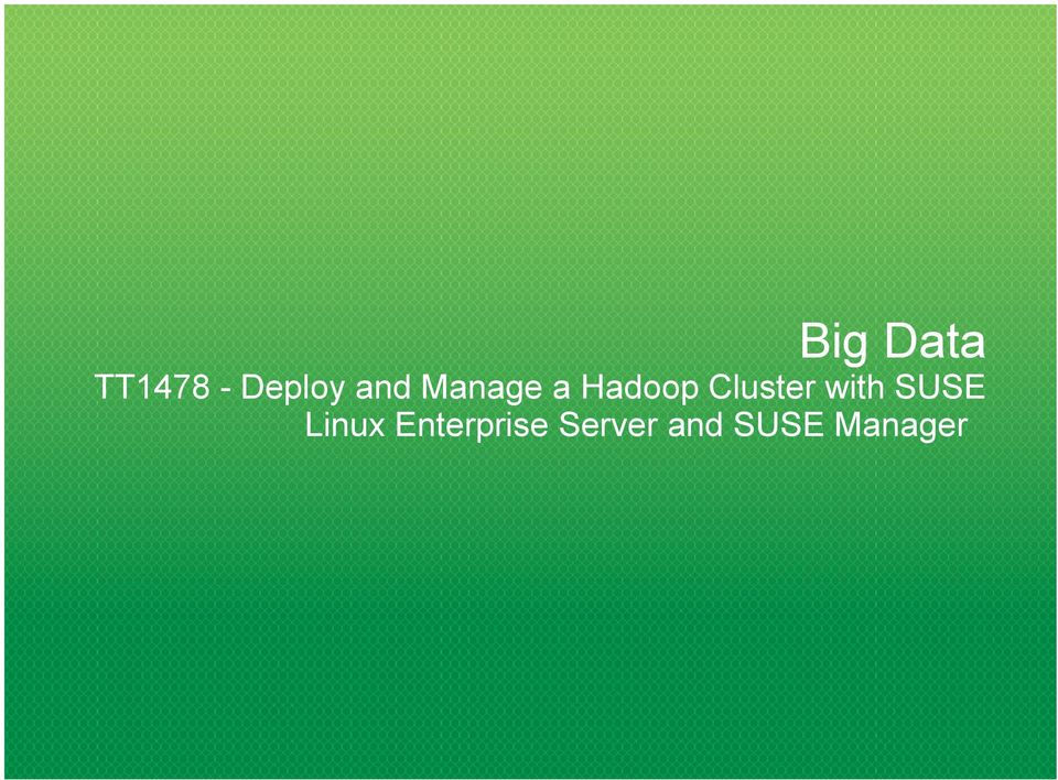 Cluster with SUSE Linux