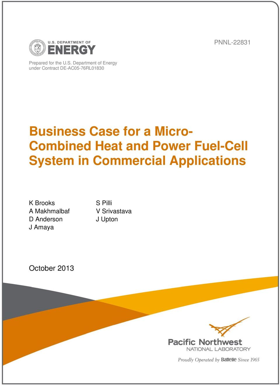 Case for a Micro- Combined Heat and Power Fuel-Cell System in