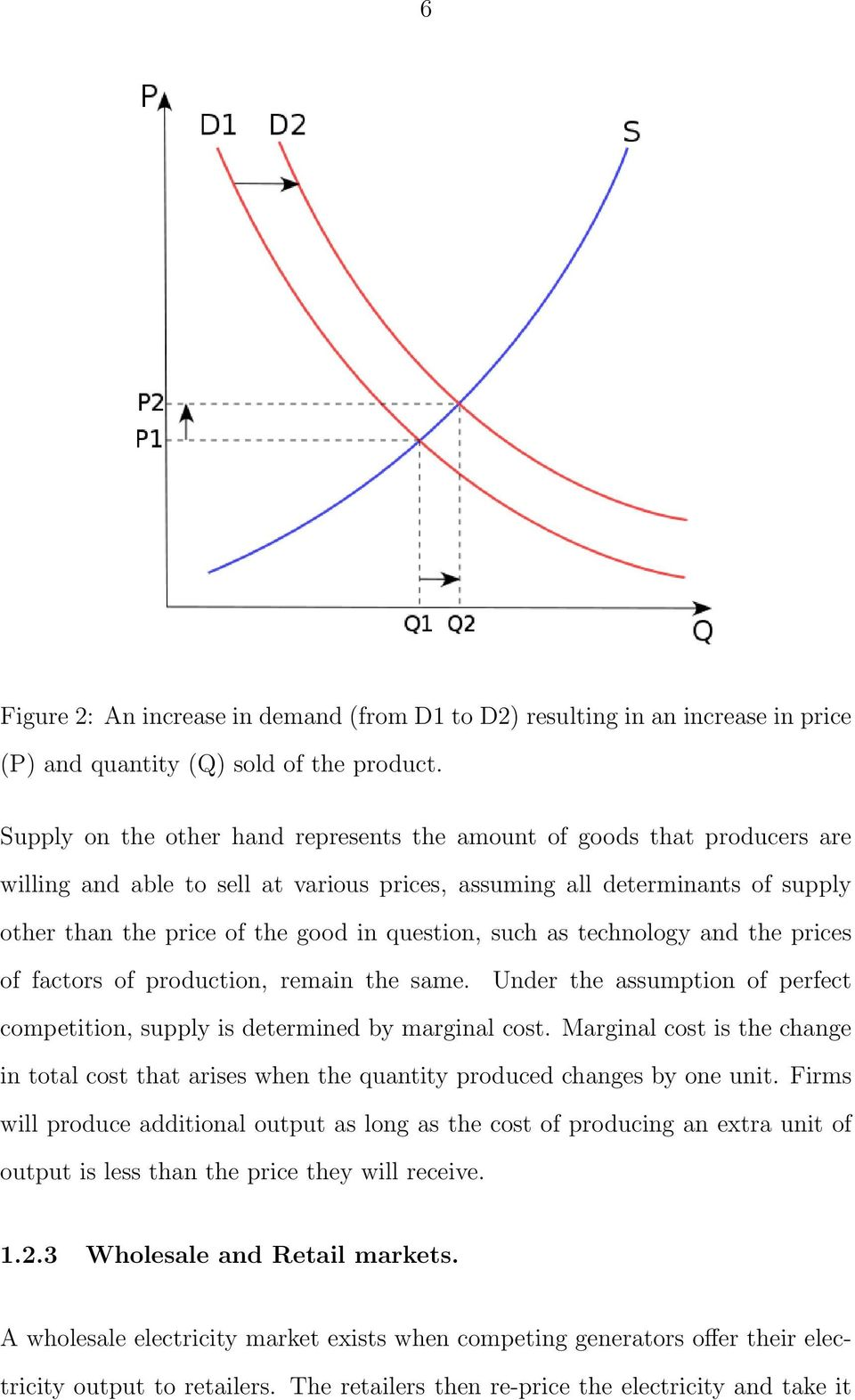 question, such as technology and the prices of factors of production, remain the same. Under the assumption of perfect competition, supply is determined by marginal cost.