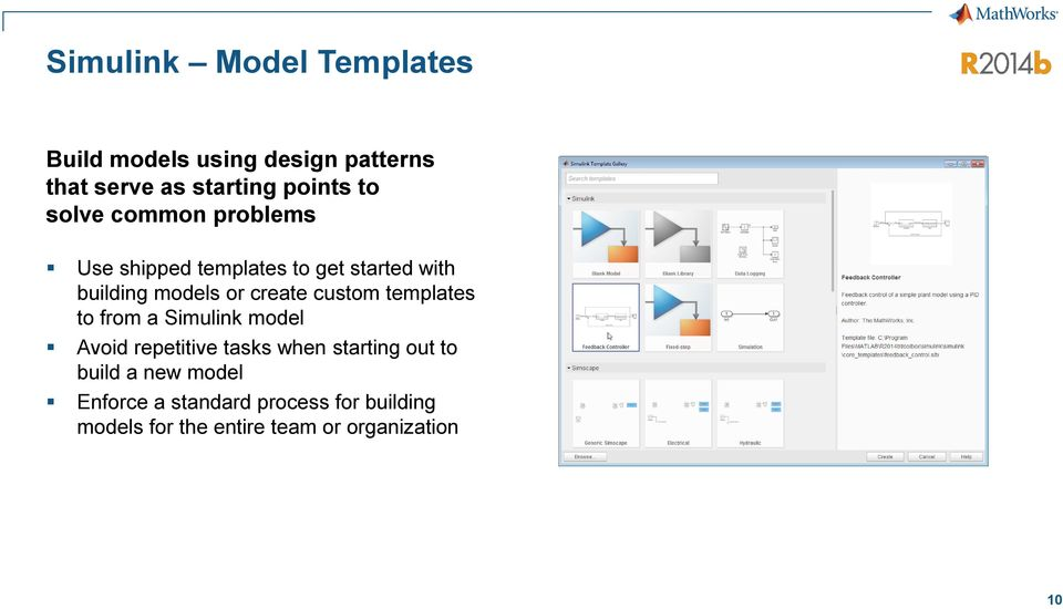 custom templates to from a Simulink model Avoid repetitive tasks when starting out to build