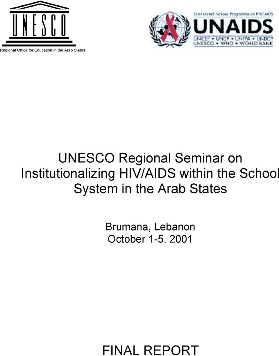 HIV/AIDS within the School System in the Arab