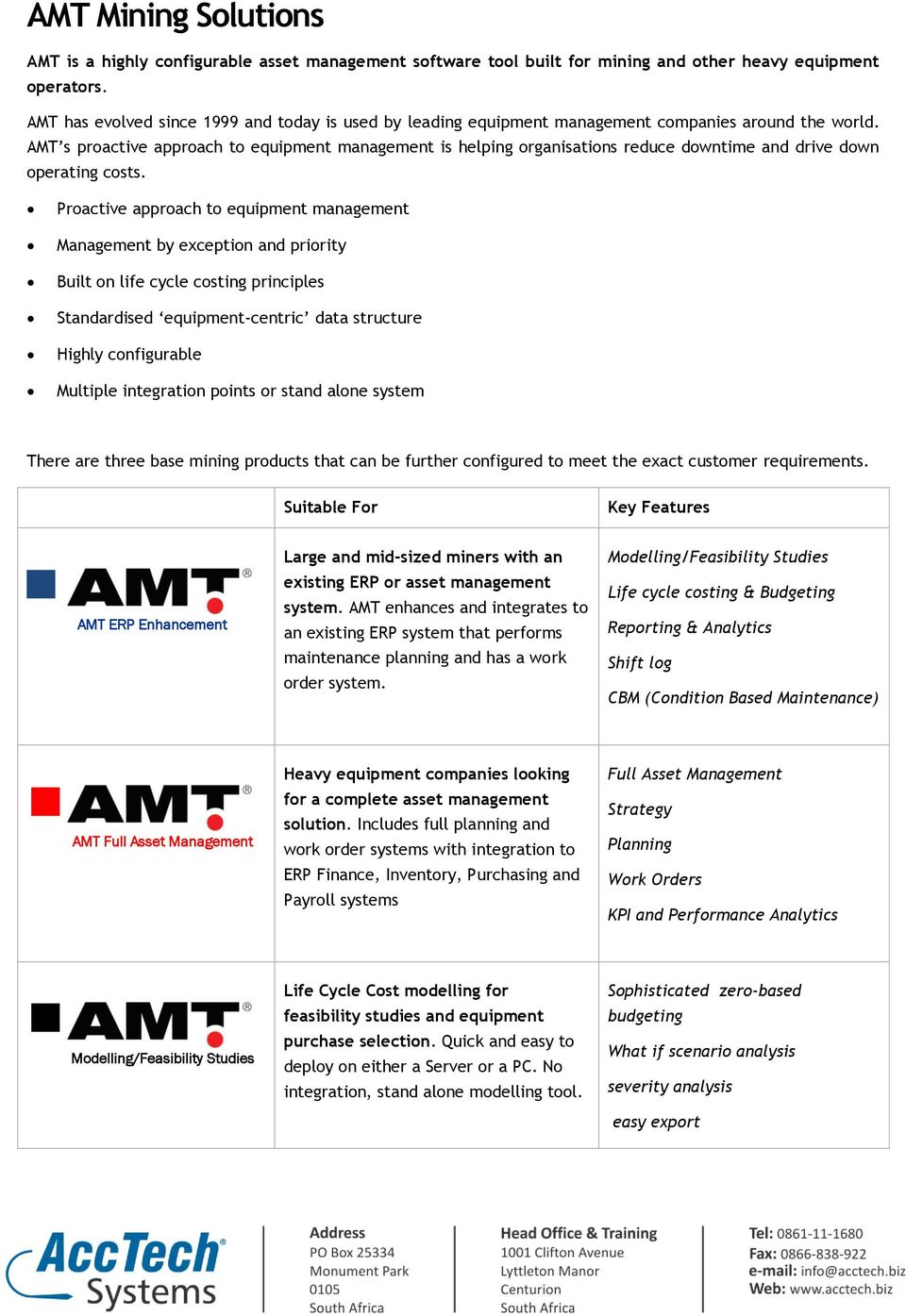 AMT s proactive approach to equipment management is helping organisations reduce downtime and drive down operating costs.