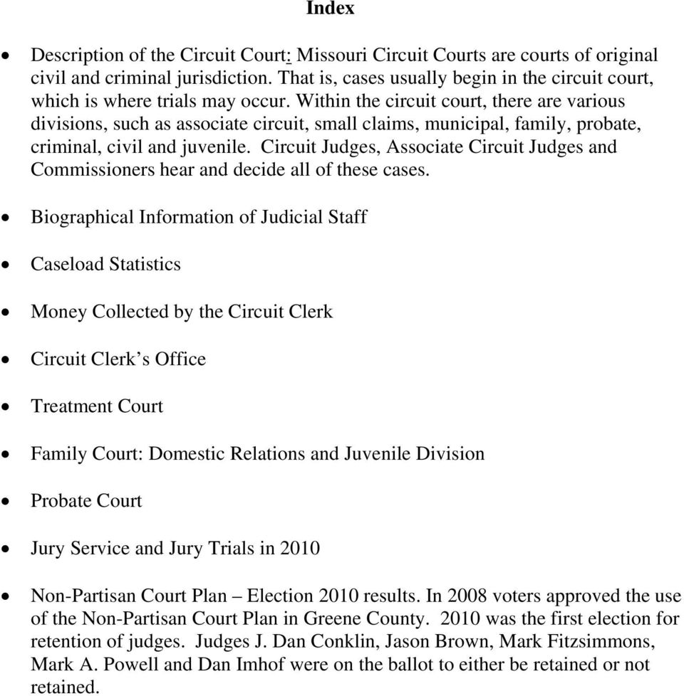 Circuit Court of Greene County  31st Judicial Circuit  State