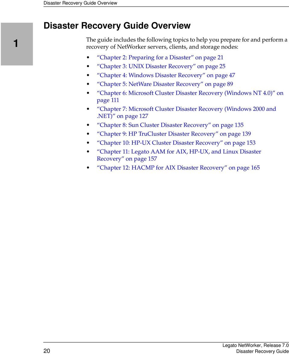 (Windows NT 4.0) on page 111 Chapter 7: Microsoft Cluster Disaster Recovery (Windows 2000 and.