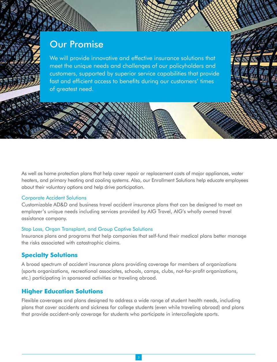 Overview Brochure Aig Benefit Solutions Providing