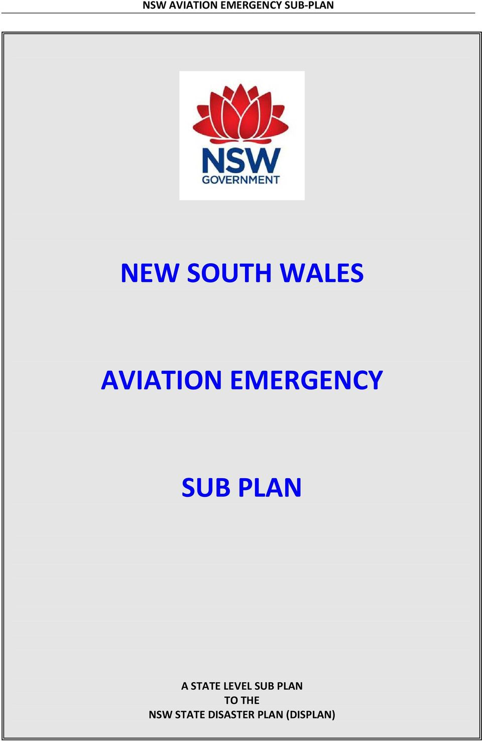 SUB PLAN A STATE LEVEL SUB PLAN TO