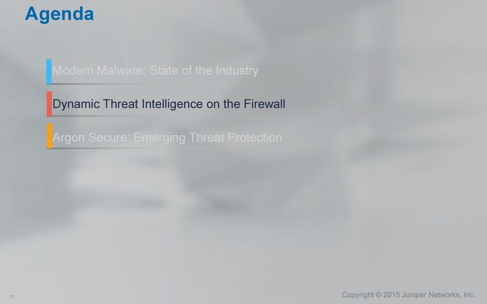 Intelligence on the Firewall
