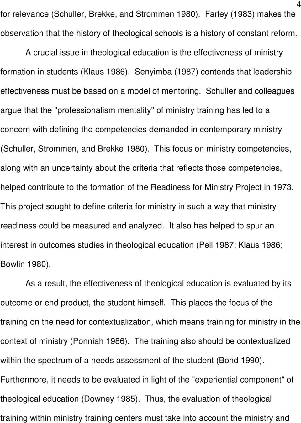 Senyimba (1987) contends that leadership effectiveness must be based on a model of mentoring.