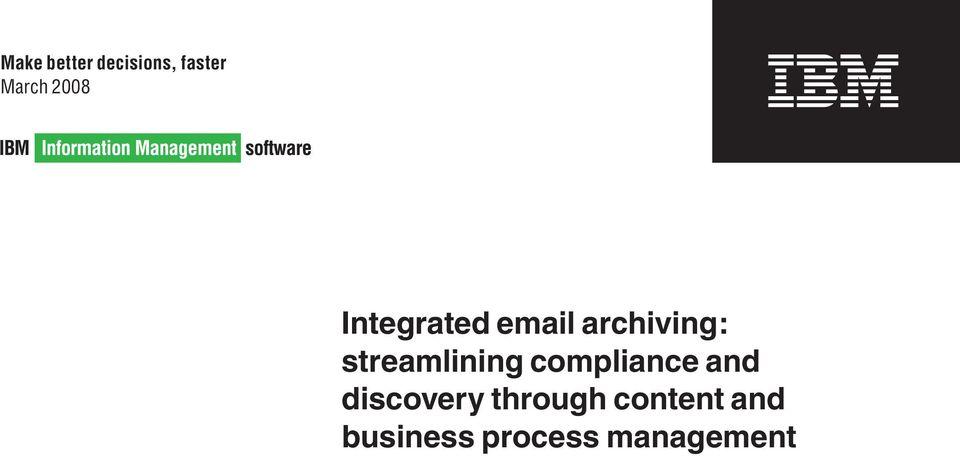 streamlining compliance and discovery