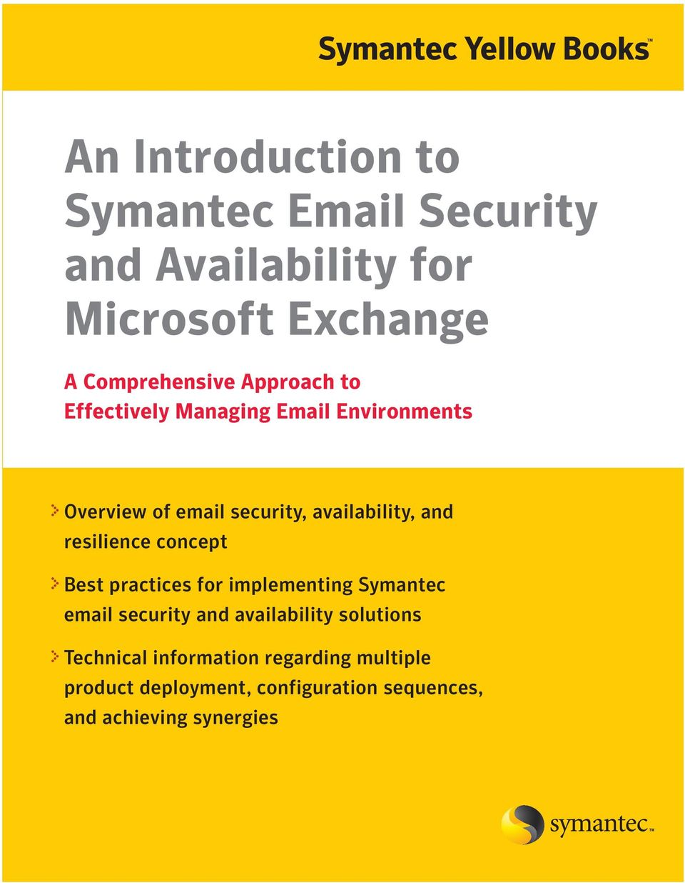 resilience concept Best practices for implementing Symantec email security and availability solutions