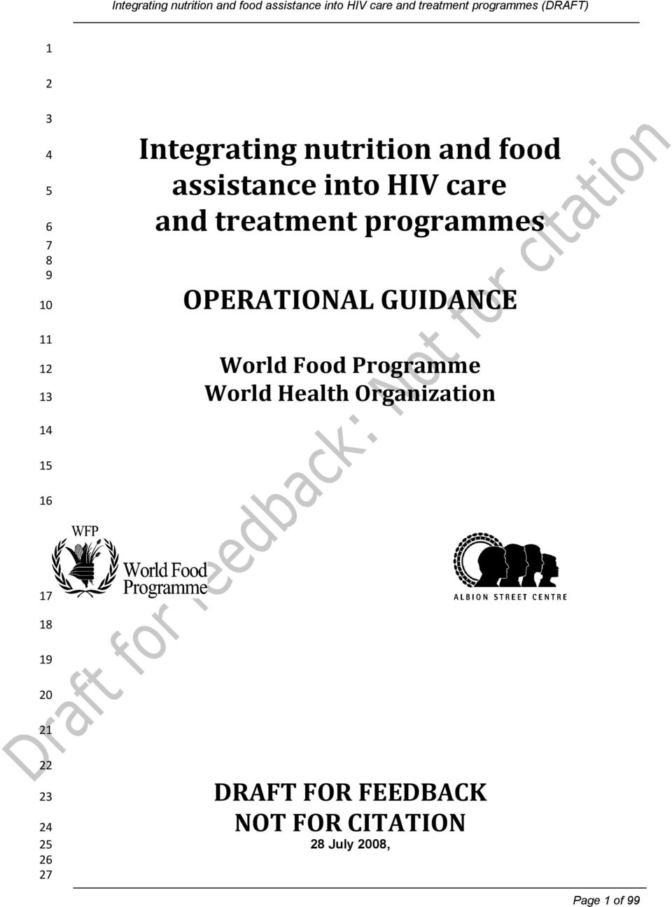 World Food Programme World Health Organization 0